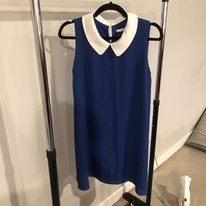 Blue Dress with White Collar
